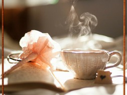 A hot cup of tea and a journal to share your thoughts. How relaxing!